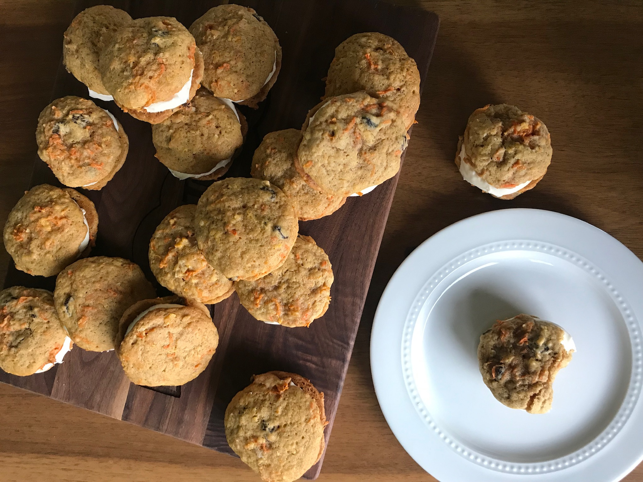 Cannabis Carrot Cake Whoopie Pies