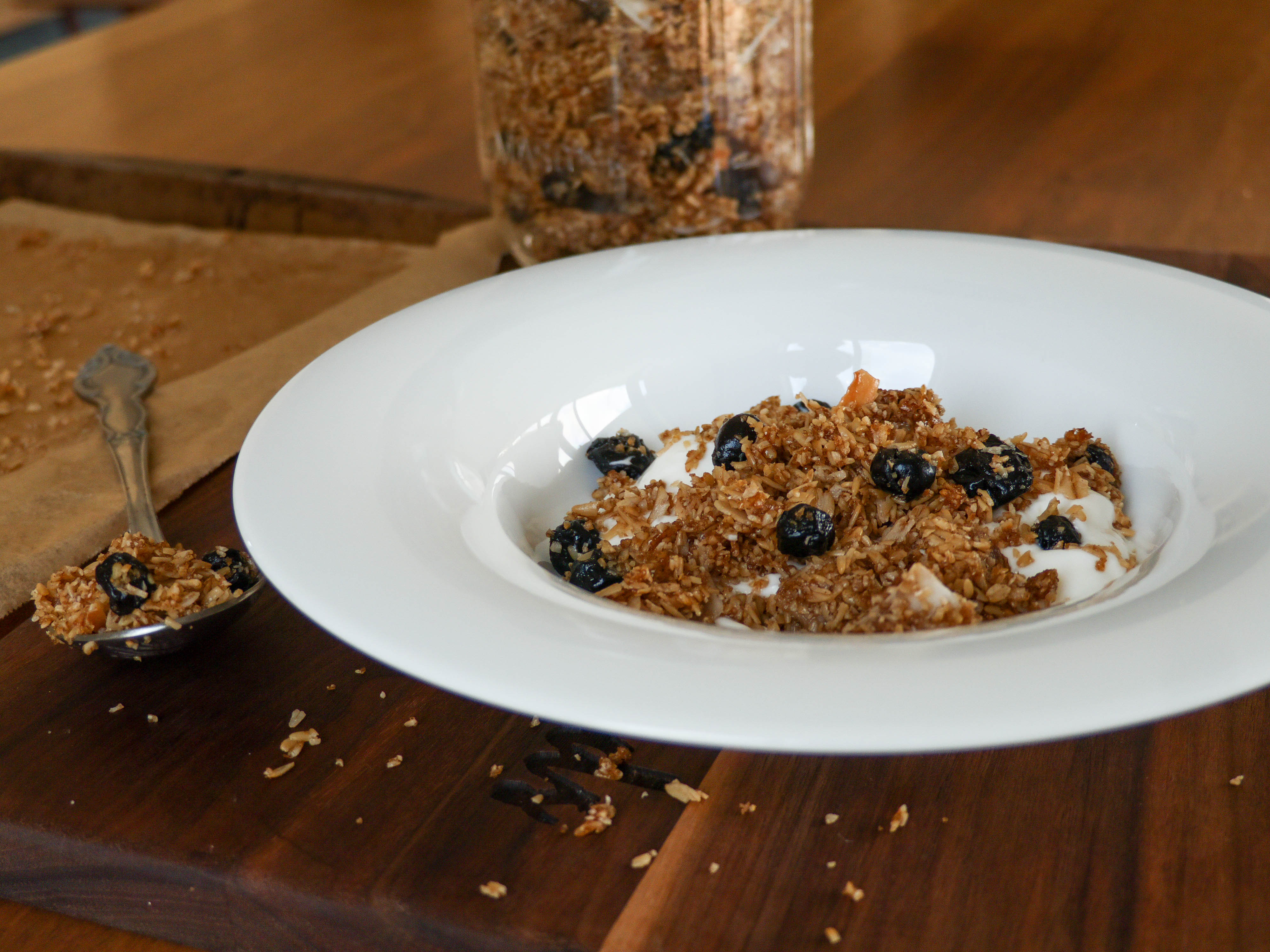 CBD Blueberry Granola